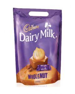 CADBURY DAIRY MILK WHOLE NUT CHUNKS POUCH - 400/440GR