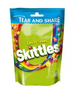 SKITTLES CRAZY SOURS POUCH