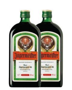 JAGERMEISTER LIQUEUR TWIN PACK + 2 SHOTGLASSES - 2X0.5LT