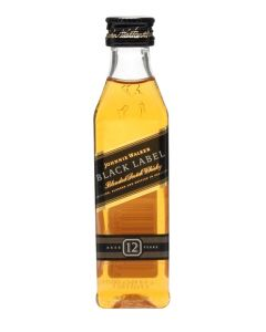 JOHNNIE WALKER BLACK LABEL 12 YEAR OLD SCOTCH WHISKY MINIATURES - 5CL