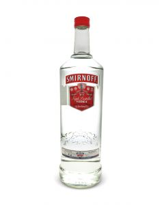 SMIRNOFF VODKA RED 80 PROOF FLASK - 50CL