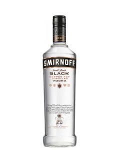 SMIRNOFF VODKA BLACK 80 PROOF - 100CL