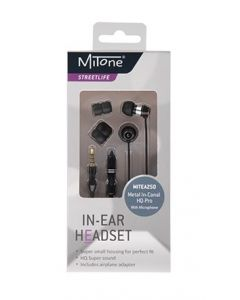 MITONE HQ PRO METAL IN-CANAL HEADPHONES + MIC MITEA250