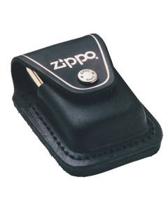 ZIPPO BLACK LEATHER POUCH