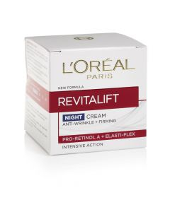 L'OREAL REVITALIFT NIGHT CREAM ANTI-WRINKLE + FIRMING - 50ML