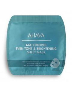 AHAVA AGE CONTROL 6X EVEN TONE & BRIGHTENING SHEET MASKS
