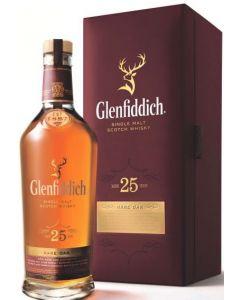 GLENFIDDICH 25YR MALT SCOTCH - 70CL